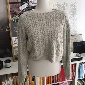 Christopher & Banks Knot Cute Silk Crop Sweater